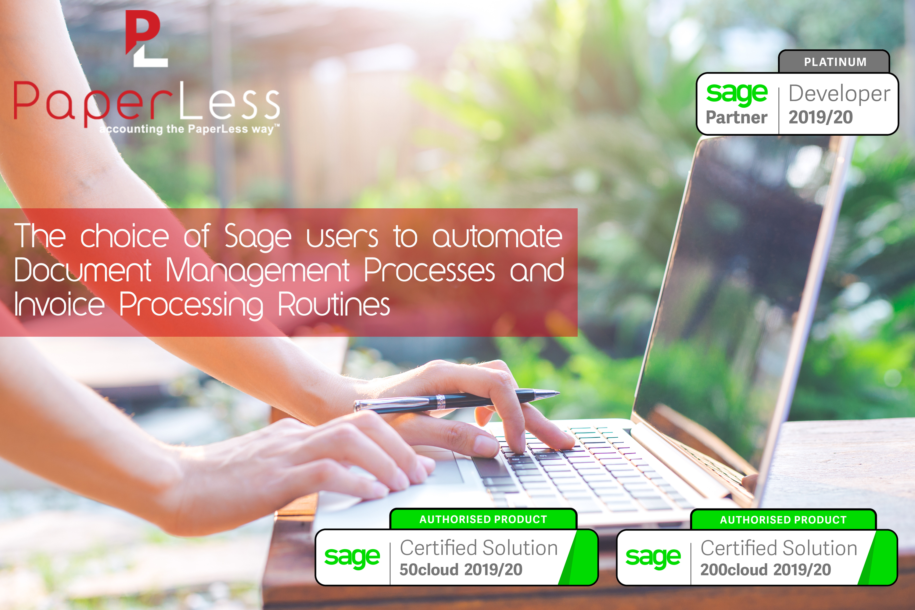 Click here to find out more about PaperLess Automation Software for Sage