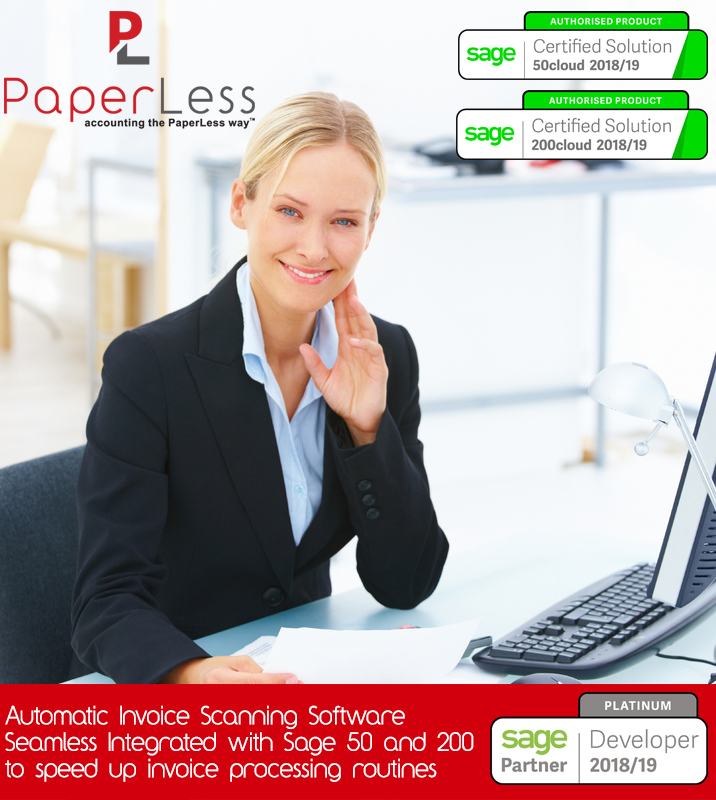 Click here to find out more about PaperLess Invoice Scanning Software for Sage