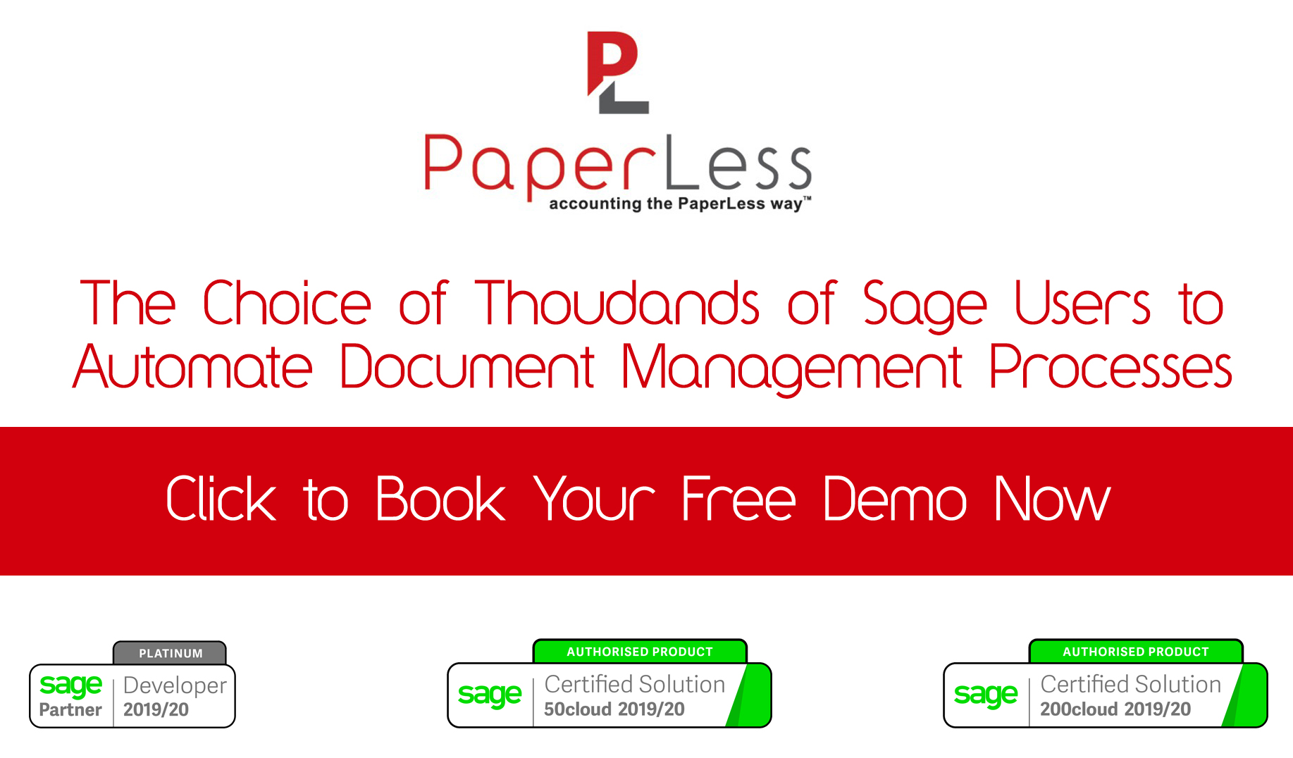 Click here to Book Your Free Demo of PaperLess OCR for Sage
