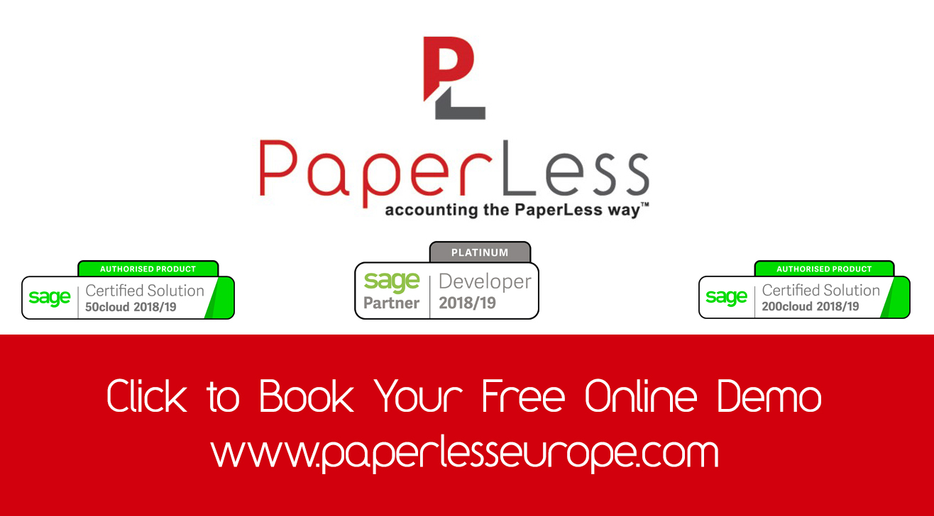 Book Your Free Online Demo of PaperLess for Sage