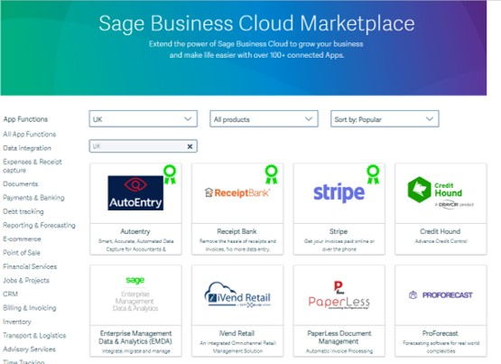 Click here to visit Sage Marketplace