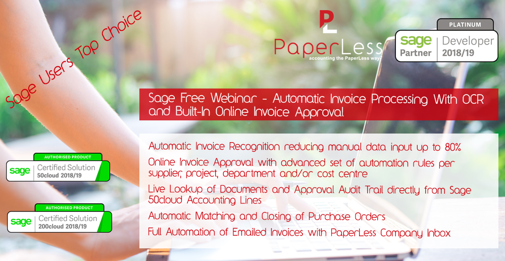 Click here to Book Your Free Place on Sage Invoice Processing Webinar