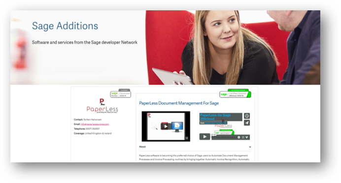Click here to find out more about this Sage Developer Solution