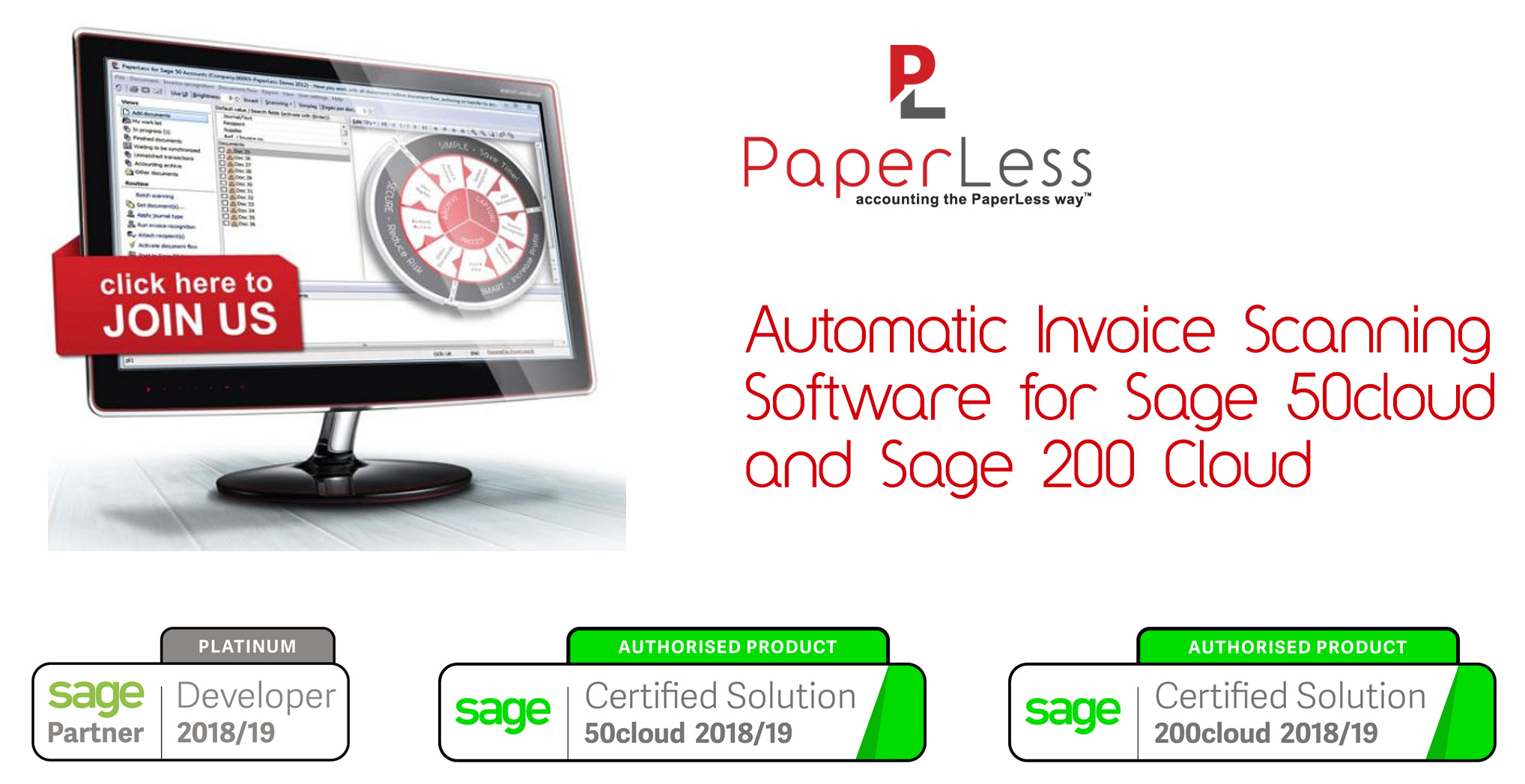Click here to find out more about PaperLess OCR Software for Sage
