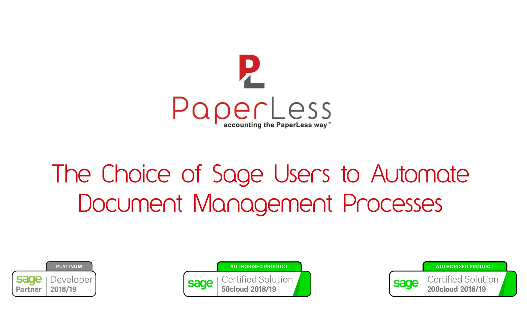 Sage Certified Document Management Software is the top choice of Sage users to automate invoice processing routines.